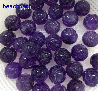 amethyst carved gemstone beads wholesale